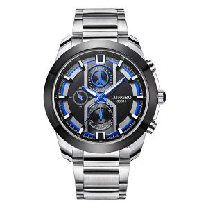 Multifunction Metal Waterproof Analog Quartz Watch