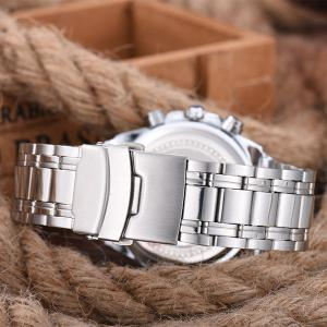 Multifunction Metal Waterproof Analog Watch -