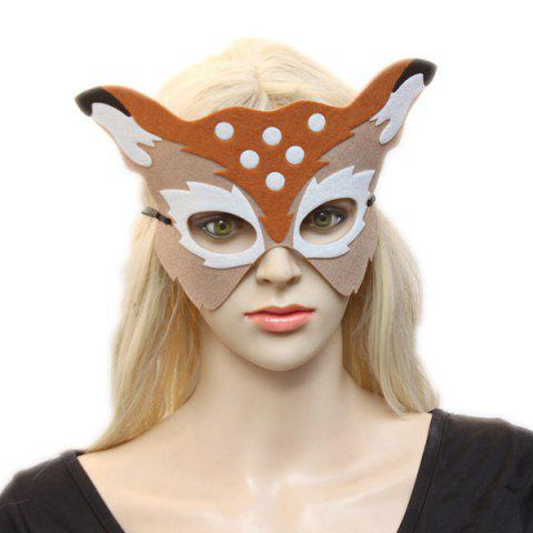 Fancy Elk Hollow Out Masquerade Party Mask LIGHT KHAKI
