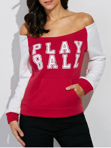 Latest Off The Shoulder Play Ball Sweatshirt