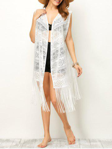 Outfit Sleeveless Cut Out Fringe Cover-Up