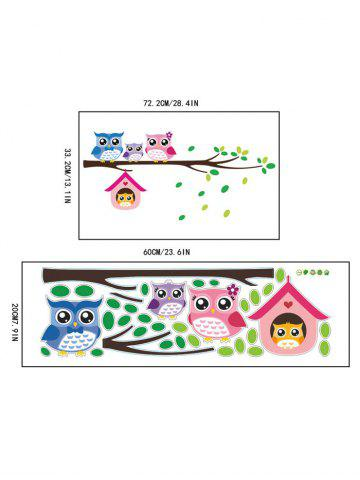 Cheap Owl Animal Removable Kids Room Cartoon Wall Stickers - COLORFUL  Mobile