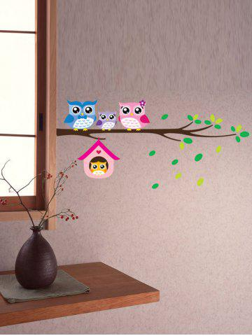Best Owl Animal Removable Kids Room Cartoon Wall Stickers - COLORFUL  Mobile