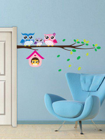 Shop Owl Animal Removable Kids Room Cartoon Wall Stickers - COLORFUL  Mobile