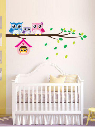 Unique Owl Animal Removable Kids Room Cartoon Wall Stickers - COLORFUL  Mobile