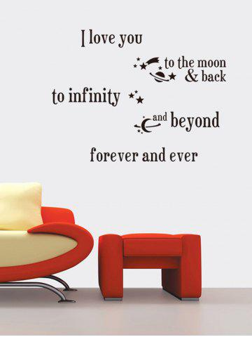 I Love You Proverb Vinyl Wall Stickers Custom For Living Room - Black - 48.5*68cm