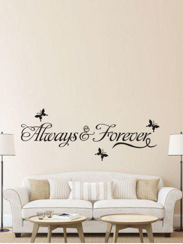 Outfit Letter Words Removable Living Room Vinyl Wall Stickers Custom - BLACK  Mobile
