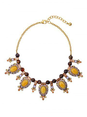 Shop Artificial Gem Oval Beads Necklace