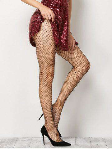 Shop Fishnet Sheer  Pantyhose BLACK ONE SIZE