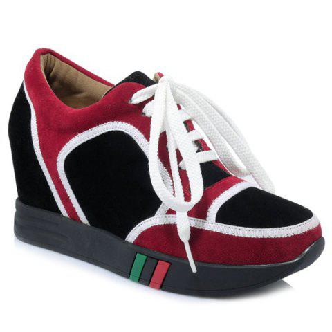 Hot Hidden Wedge Colour Block Athletic Shoes