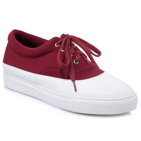 Hot Tie Up Color Block Athletic Shoes