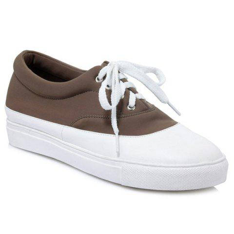 Store Tie Up Color Block Athletic Shoes
