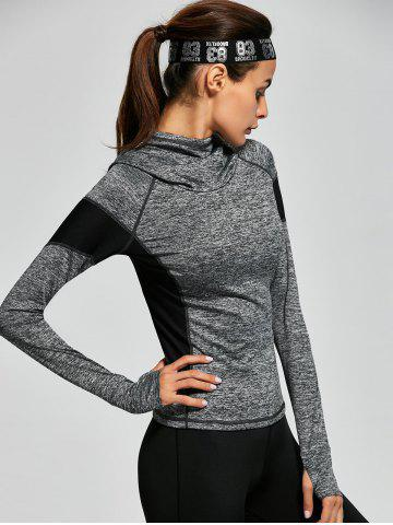 Outfits Raglan Sleeve Panel Gym Hoodie - S GRAY Mobile