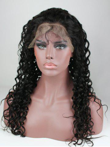 Long Deep Curly Front Lace Human Hair Wig