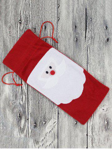 Cheap Christmas Supplies Table Decoration Santa Claus Wine Bottle Cover Bag - RED  Mobile