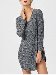 Asymmetric Mini Tunic Jumper Dress