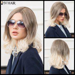 Siv Medium Side Parting Fluffy Wavy Human Hair Wig