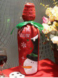 Merry Christmas Snowman Wine Bottle Cover Bag Table Decoration -