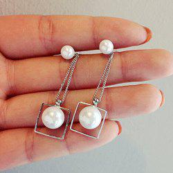 Faux Pearl Drop Stud Earrings