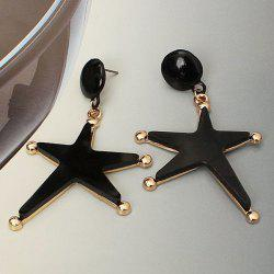 Faux Gem Starfish Dangle Earrings