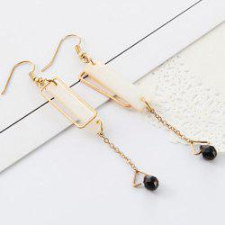 Faux Gem Rectangle Earrings