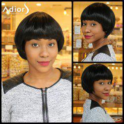 Short Straight Neat Bang Bowl Haircut Synthetic Capless Wig
