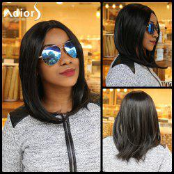 Centre Parting Long Straight Synthetic Capless Wig