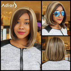Double Color Short Side Parting Straight Synthetic Capless Wig
