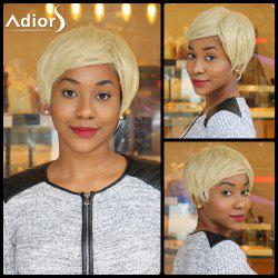 Sparkle Light Blonde Mixed Flaxen Capless Short Straight Synthetic Wig