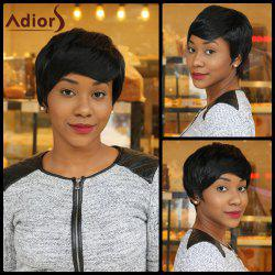 Elegant Short Straight Capless Black Synthetic Wig For Women
