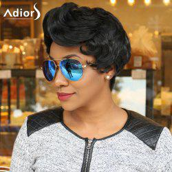 Adiors Short Boy Cut Side Bang Curly Synthetic Wig
