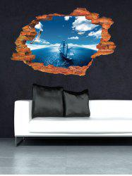 Broken Wall 3D Sea Wall Stickers For Living Room Decoration