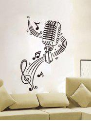 Removable Music Score Vinyl Wall Stickers - BLACK