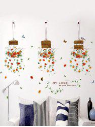 Hanging Flowers Removable Home Window Decor Wall Stickers