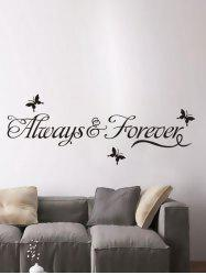 Letter Words Removable Living Room Vinyl Wall Stickers Custom - BLACK