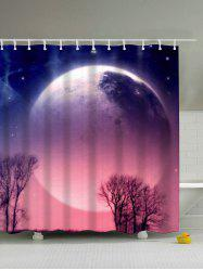 Thicken Polyester Waterproof Bath Shower Curtain - COLORMIX
