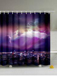 Mew Sky Print Waterproof Shower Curtain