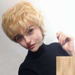 Siv Short Side Bang Shaggy Layered Curly Human Hair Wig