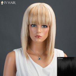 Siv Medium Neat Bang Straight Human Hair Wig