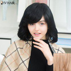Siv Short Oblique Bang Slightly Curled Shaggy Human Hair Wig