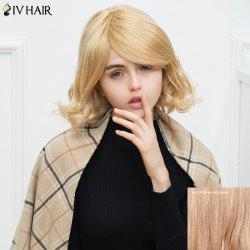 Siv Short Oblique Bang Wavy Human Hair Wig