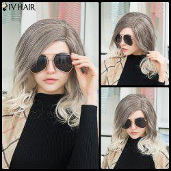 Siv Long Side Parting Shaggy Colormix Wavy Human Hair Wig