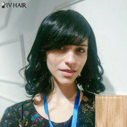 Siv Short Layered Wavy Inclined Bang Human Hair Wig