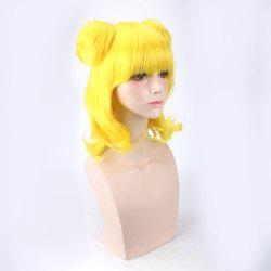 Medium Full Bang Tail Curly with Chignons Synthetic Minami Mirei Cosplay Wig