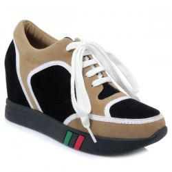 Hidden Wedge Colour Block Athletic Shoes