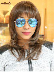 Adiors Long Full Bang Colormix Layered Slightly Curled Synthetic Wig
