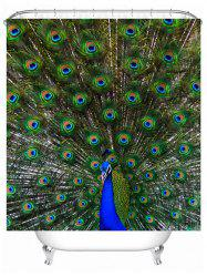 Peacock Print Waterproof Mildewproof Shower Curtain