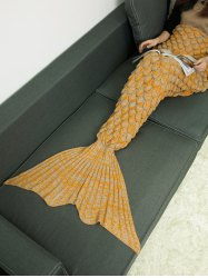 Crochet Knitting Fish Scales Design Mermaid Tail Style Blanket
