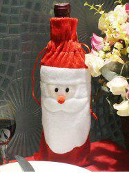 Christmas Supplies Table Decoration Santa Claus Wine Bottle Cover Bag - RED