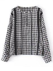 Lacework Checked Blouse -